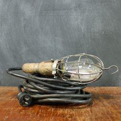 Industrial Hook and Cage Lamp vintage, multi, vintage lighting