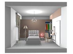Sezione prospettica camera con cabina armadio abitabile Ремонт