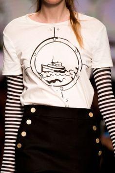 MaxMara at Milan Fashion Week Spring 2016 - Details Runway Photos Dali, Runway Fashion, Milan Fashion, Fashion Trends, Fashion Ideas, Women's Fashion, Sailor Dress, 2016 Trends, Nautical Fashion