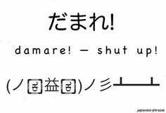 Japanese Phrases (I definitely need to brush up, my sensei would be so disappointed! lol)