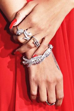 Rihanna's ring stacks on the red carpet