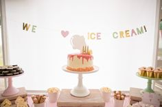 Ice Cream Party Cake   Pop Roc Parties Blog