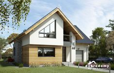 Elsa III - Dobre Domy Flak & Abramowicz Timber Cladding, Home Fashion, Bird Houses, Home Projects, Future House, Elsa, House Plans, Shed, Floor Plans