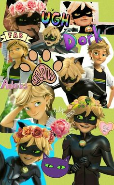 Miraculous Ladybug and Chat Noir Wallpaper para celular Chat/Adrien