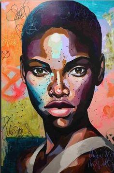 Southern Woman- People Paint By Numbers – Numeral Paint Black Girl Art, Black Women Art, Black Art, African American Art, African Art, Tableau Pop Art, Posca Art, Art Africain, Afro Art