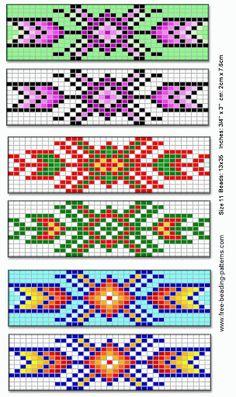 Native american beading patterns barrette for native american beadwork group of by jana Loom Bracelet Patterns, Peyote Stitch Patterns, Beading Patterns Free, Seed Bead Patterns, Bead Loom Bracelets, Weaving Patterns, Jewelry Patterns, Beading Ideas, Beaded Bracelets