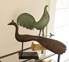 Museum Craft Collection - Shelburne Museum Peacock Weather Vane #potterybarn