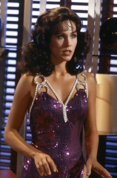 Erin Gray as Colonel Wilma Deering, undercover in the Buck Rogers in the 25th Century episode -'The Plot To Kill A City'.