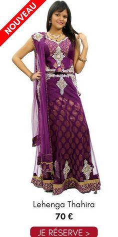 e626e407f829b Location Lehenga Choli Soirée Thahira Prune 38 Pas Cher 70€ Narkis Fashion