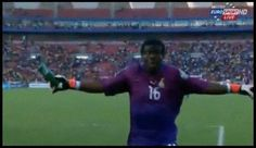 GIF: Ghana's GK celebrating their win. - Footy Memes's Photos - LockerDome