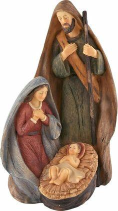 Holy Family, one piece nativity Nativity Creche, Christmas Nativity Set, Nativity Ornaments, Christmas Love, Vintage Christmas, Christmas Crafts, Christmas Decorations, Nativity Sets, Mary And Jesus