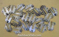Ten pairs of Boardtracker rear dropouts. Mockup, Pairs, Miniatures, Model