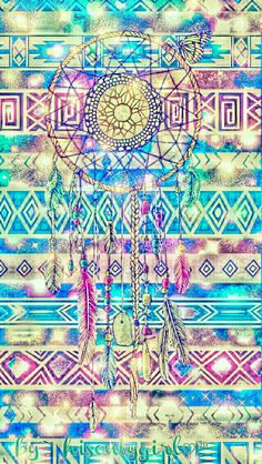 Tribal Dreamcatcher galaxy wallpaper I created for the app CocoPPa