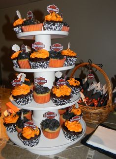 Photo gateau harley davidson