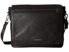 COACH Thompson Leather Messenger Bag Black - 6pm.com