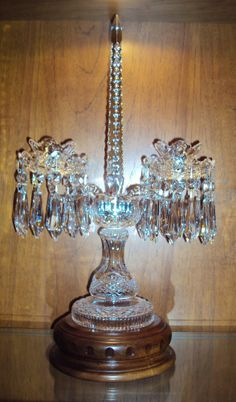 Pair Rare Vintage Waterford Crystal C1 Candelabra