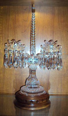 Pair Rare Vintage Waterford Crystal C1 Candelabra