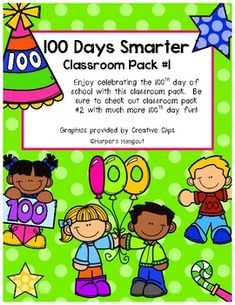 """Enjoy celebrating the 100th day of school with this classroom pack.  Be sure to check out classroom pack #2 with much more 100th day fun! Included in pack #1: -100 Day Snack Mix Worksheet -How Many words can you make from """"one hundred?"""" -100 Day Snack Mix Bag Toppers -100th Day Fitness Fun -What Will I Look Like When I am 100? - Black/White -What Will I Look Like When I am 100? - color -Happy 100th Day Worksheet -When I am 100 Years Old Writing Prompt ..."""