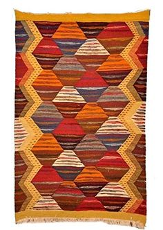 "Moroccan Handwoven Berber Tribal Wool Kilim Kilem Area Rug Carpet Prayer (40.5"" x 25.5"") Moroccan Furniture Bazaar http://www.amazon.com/dp/B01BMSBNY0/ref=cm_sw_r_pi_dp_UnmVwb08432AJ"