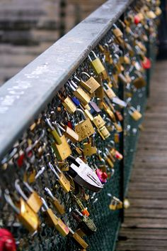 I want to engrave a lock on my wedding day and then go to paris on an anniversary or something at put it on the fence/bridge :)