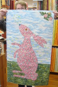 Great quilting on this bunny piece by Marie!