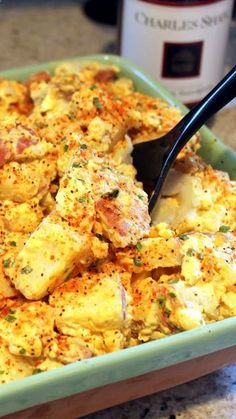 Cheddar Cheese Potato Salad - Grilling Time Side Dish... It is a winner in every sense. Always popular whenever I serve it. has all the classic ingredients, yellow mustard, hard cooked eggs and onions. But it gets all dressed up with the Salad Sprinkle, the Sharp Cheddar, Red Skinned potatoes (leave the skin on, better for you but also adds to the beauty). It also gets a zippy addition with a dollop of BBQ sauce. THE BETTER Mousetrap... Um POTATO SALAD!