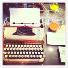 Golden typewriter