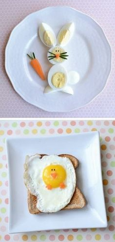 Bunny and chicken eggs!