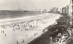 Imagens do Rio rio de janeiro copacabana 1950 Avenida Copacabana los 1950