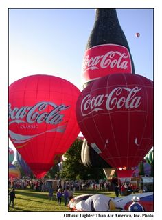 Lighter Than Air America Scott Spencer Coke Coca Cola hot air Balloon Boise Idaho laurie spencer air. Balloon Rides, Hot Air Balloon, Santas Vintage, Pays Francophone, Air America, Coca Cola Decor, Cocoa Cola, Always Coca Cola, Poster