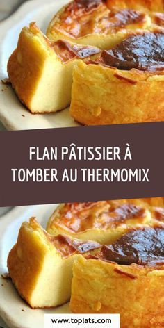 FLAN PÂTISSIER À TOMBER AU THERMOMIX Crockpot Recipes For Two, Cooking Recipes, Nutella, Mousse, Desserts With Biscuits, Custard Recipes, Thermomix Desserts, Batch Cooking, Keto Cheesecake