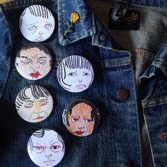 attitude badges - choose from 6 designs by Melissa Jean Gibson