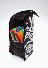 ikat bag: A Better Marker Pouch tutorial - these are a cute and great idea. The instructions look very clear.