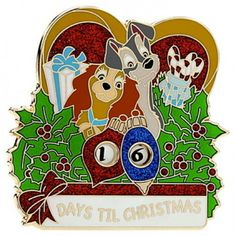 Disney Lady and the Tramp Christmas Countdown Pin LE 500