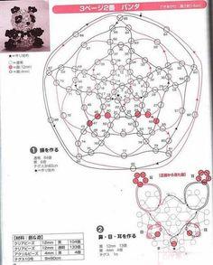 Crystal Beaded Panda - Beaded Jewelry Patterns 串珠大熊猫