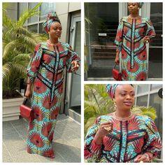 African Dresses For Women, African Attire, African Fashion Dresses, Ankara Maxi Dress, Straight Dress, Ankara Styles, Kaftan, Style Me, Gowns