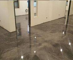Lava Flow« Decorative Metallic Epoxy Concrete Floor Coating for Commercial Floors