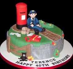 Postal Birthday Cakes! | | #architecturalmailboxes.com #mailbox #postman #postalservice #letter #mailmen #postmanpat #postman #cake #baking #postalservice