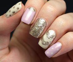 Nail Polish Society Glitzy and Girly #nailart