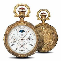Leroy pocket watch presented at the Paris World's Fair in 1900 Gold Pocket Watch, Pocket Watch Antique, Fine Watches, Cool Watches, Dream Watches, Watch Complications, Aesthetic Objects, Vintage Watches, Luxury Watches
