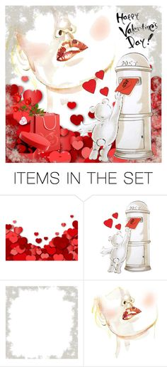 """""""Happy V-Day To My Poly Friends!"""" by andrejae ❤ liked on Polyvore featuring art, valentinesday and polyfriends"""