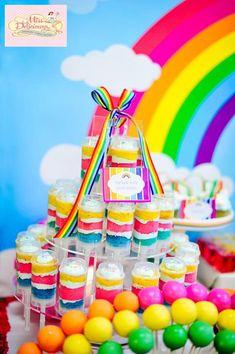 Girly Rainbow 5th Birthday Party