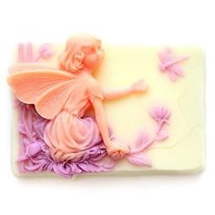 Lovely Girl Soap Mold DIY Silicone Mold Fairy and Dragonfly Soap Molds R0556