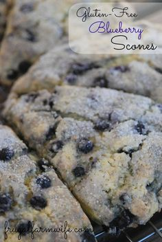 Gluten-free Blueberry Scones. These are a favorite with my kids! They're kind of like a dessert - but without lots of sugar!