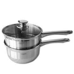 Legend's Double Boiler is made from stainless steel and enables you to boil two different dishes at once. Ideal for melting and keeping liquids & sauces war