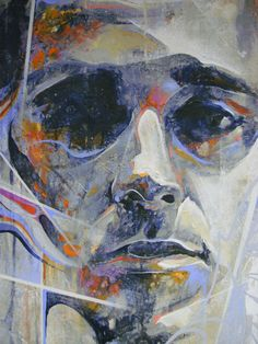 15 Tips And Ideas For Professional Abstract Painting From Danny O'Connor Portrait Art, Portraits, Mixed Media Artists, Face Art, Art Faces, Paint Markers, Beautiful Paintings, Art Blog, Cool Art