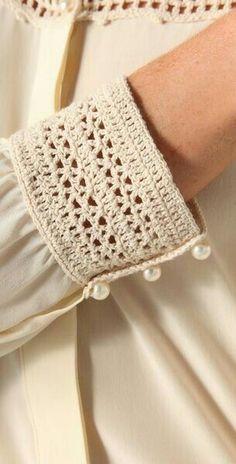 "堆糖-美好生活研究所 ""Beyond Vintage Crochet Yoke Blouse in White Inspiracion ✭Teresa Restegui"", ""Buy Beyond Vintage Women& White Crochet Yoke Blouse, starting at Beau Crochet, Crochet Yoke, Crochet Fabric, Crochet Collar, Crochet Blouse, Crochet Stitches, Crochet Bikini, Knitting Patterns, Sewing Patterns"
