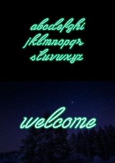 Neon Font. Colorful Fonts