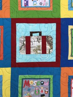 Those Who Can't Travel, Quilt -- StillATourist Suitcase Quilt Block Yellow Quilts, Rainbow Quilt, Quilt Top, Quilt Making, Quilt Blocks, Suitcase, Blogging, Scrap, Crafty