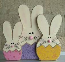 Die 157 Besten Bilder Von Ostern Holz Wooden Crafts Easter Bunny